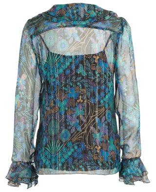 Floral Fireworks georgette and Lurex blouse SEE BY CHLOE