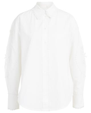 Embroidered poplin and canvas shirt SEE BY CHLOE