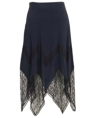 Zigzag hem crepe and lace skirt SEE BY CHLOE