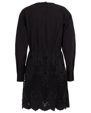 Robe courte en popeline et dentelle géométrique SEE BY CHLOE