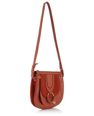 Hana grained leather and suede saddle bag SEE BY CHLOE