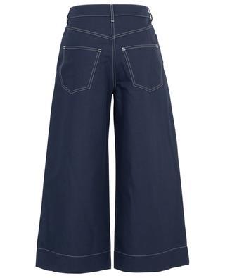 Jupe-culotte en coton et lin mélangés KENZO