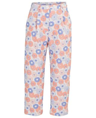 Ume Flowers cropped floral carotte trousers KENZO