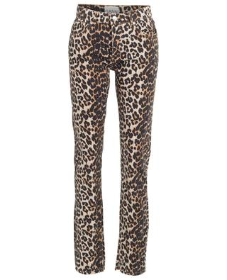 Leopard print straight fit high-rise jeans GANNI