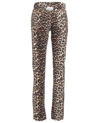 Jean droit taille haute imprimé léopard GANNI