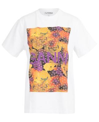 Lässiges T-Shirt mit Print Watercolour GANNI