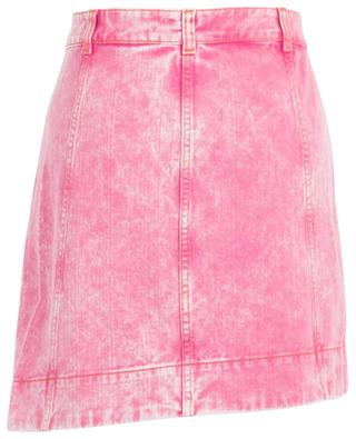 Minirock in Wickeloptik aus Denim Pink Acid Wash GANNI