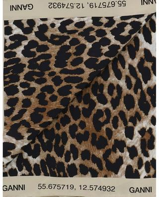 Leopard print silk square GANNI