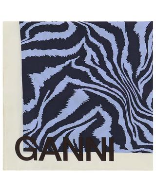 Tiger print silk square GANNI