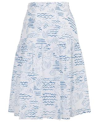 Mermaids printed and embroidered midi skirt KENZO