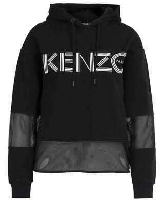 Mesh insert cotton sweatshirt KENZO