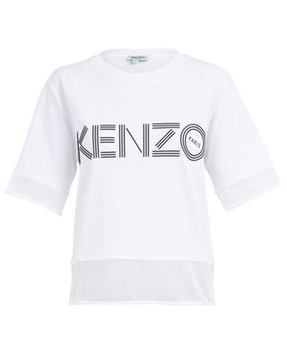 T-Shirt aus Baumwolle mit Logo und Netzdetails Kenzo Sport KENZO