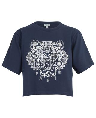 Tiger Ikat cropped embroidered boxy T-shirt KENZO