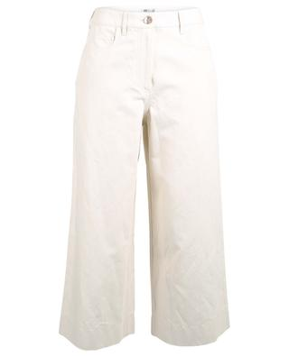 Cropped wide-leg trousers in cotton and linen KENZO