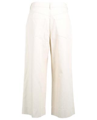 Pantalon raccourci large en coton et lin KENZO