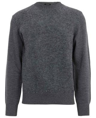 Materialmix-Pullover mit Rundhalsausschnitt Z ZEGNA