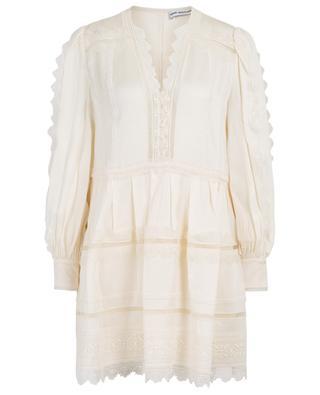 Loose lace embellished mini dress SELF PORTRAIT