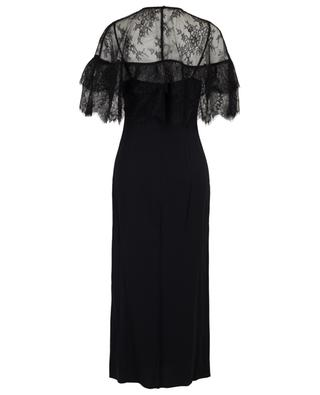 Fitted midi dress with removable lace cape SELF PORTRAIT