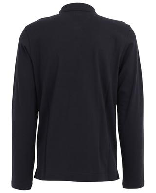 Langarm-Polohemd mit texturiertem Kragen Z ZEGNA