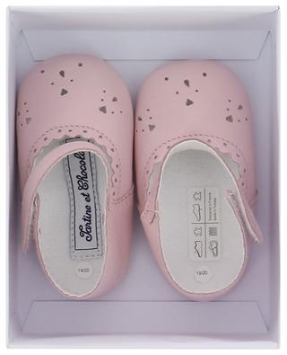 Fleur D'Aurore baby slippers in perforated leather TARTINE ET CHOCOLAT