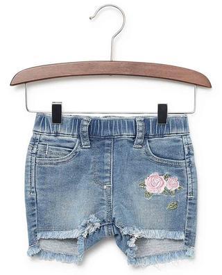 Jeansshorts mit Rosenstickereien MONNALISA