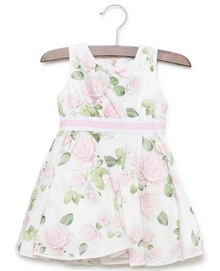 Roses print cotton dress MONNALISA