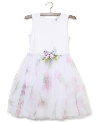 Floral tulle dress MONNALISA