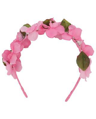 Serre-tête décoré de fleurs en tissu et perles MONNALISA