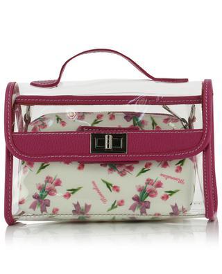 Tasche aus PVC und floralem Stoff MONNALISA