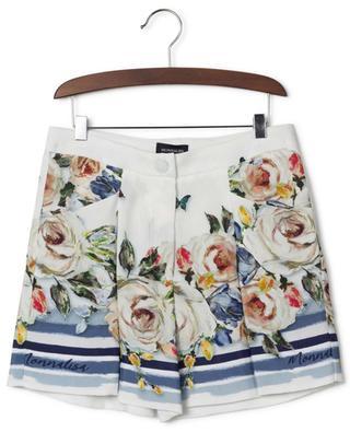 Floral viscose shorts MONNALISA