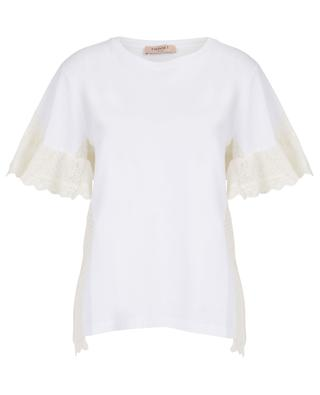 T-shirt en coton broderies anglaises TWINSET