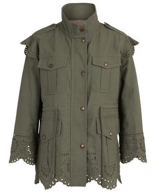 Openwork cotton jacket TWINSET