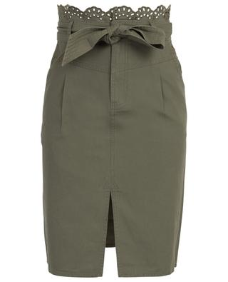 Openwork cotton short skirt TWINSET