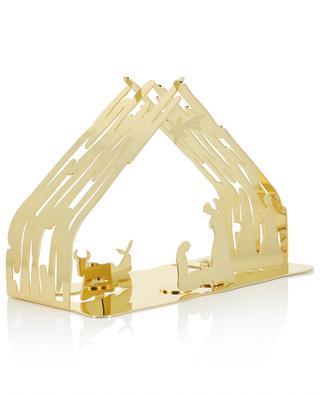 Weihnachstkrippe aus goldenem Metall Bark Crib ALESSI