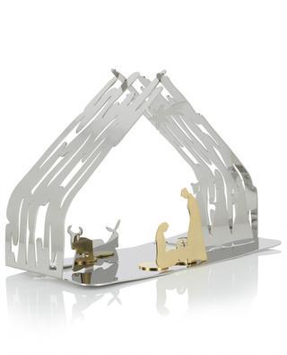 Silberne Weihnachtskrippe Bark Crib ALESSI
