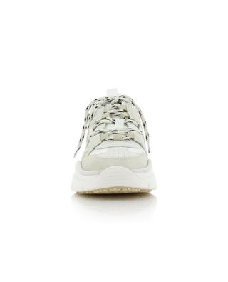 Kindsay lightweight mesh and suede low-top lace-up sneakers ISABEL MARANT