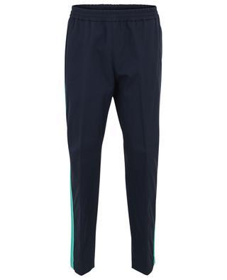 Pantalon droit en coton avec bandes contrastantes KENZO