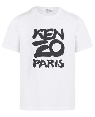 Cotton T-shirt with Kenzo Paris print KENZO