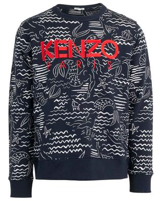 Sweat-shirt imprimé et brodé Mermaids KENZO
