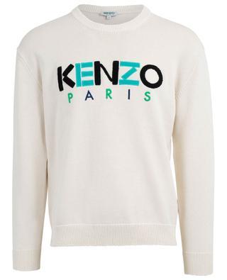 Bestickter Baumwollpullover mit Logo Kenzo KENZO