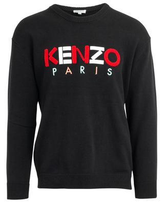 Kenzo logo embroidered cotton jumper KENZO