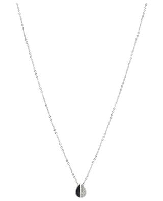 Goutte silver necklace with rhinestone IKITA