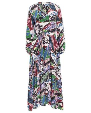 Langes Kleid aus Seide mit Print Artistry TOUPY