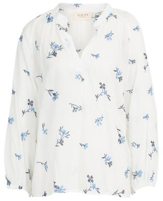 Babylone sheer flower embroidered blouse TOUPY