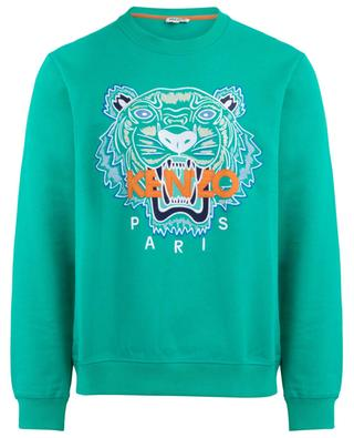 Sweat-shirt en coton broderie tigre Classic Tiger KENZO