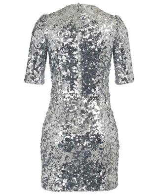 Mini dress covered in silver sequins DOLCE & GABBANA