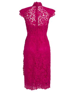 Floral lace midi dress with necktie DOLCE & GABBANA