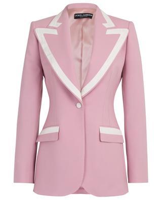 Turlington virgin wool and silk blend blazer DOLCE & GABBANA