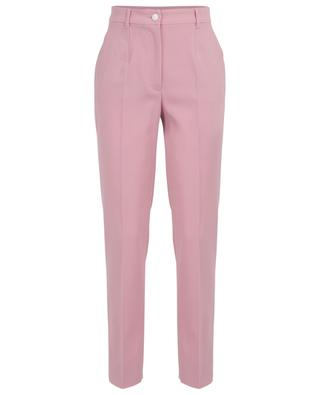 Straight fit virgin wool trousers with side grosgrain ribbons DOLCE & GABBANA