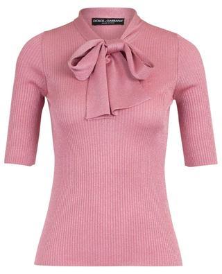 Sparkling sheath jumper with necktie DOLCE & GABBANA